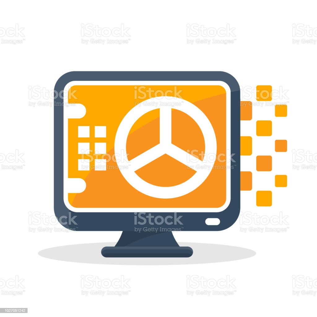 Vector Illustration Icon With Digital Communication Concept, About Online  Safe Storage Media Royalty Free