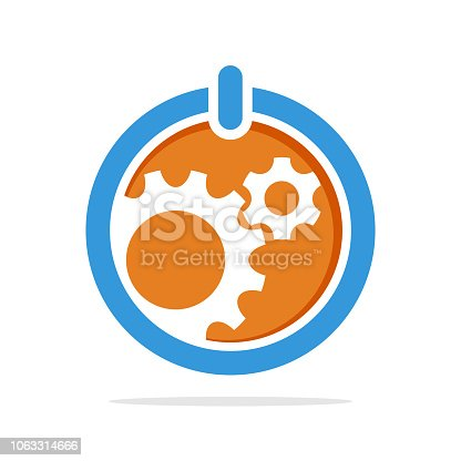 vector illustration icon with the concept of a support system that manages operational control of work