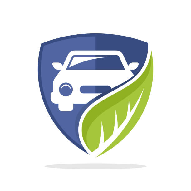 Vector illustration icon with the concept of environmentally friendly vehicle solutions Vector illustration icon with the concept of environmentally friendly vehicle solutions hybrid car stock illustrations