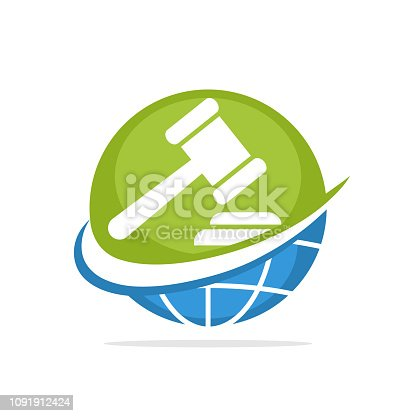 Vector illustration icon with the concept of managing global auction services
