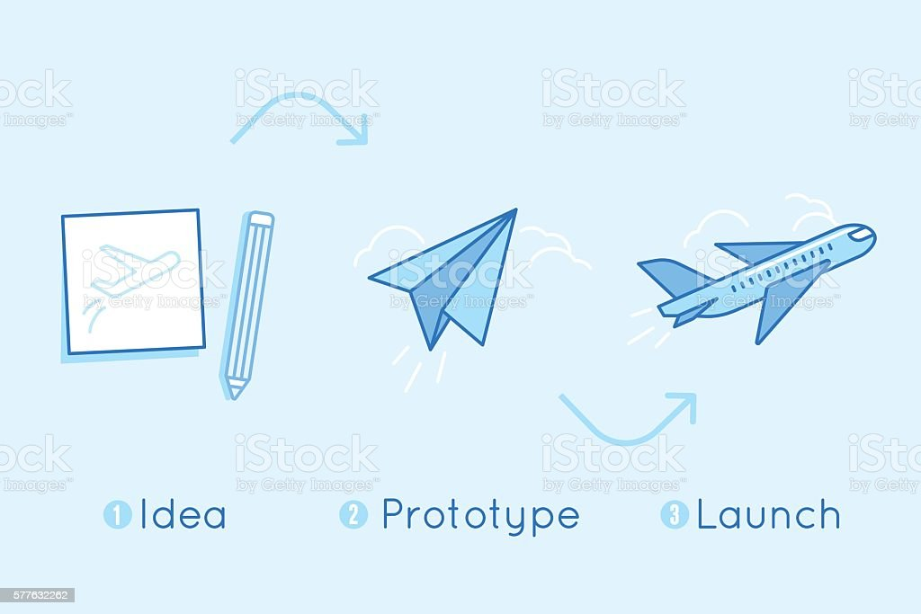 Vector illustration in flat linear style and blue colors vector art illustration