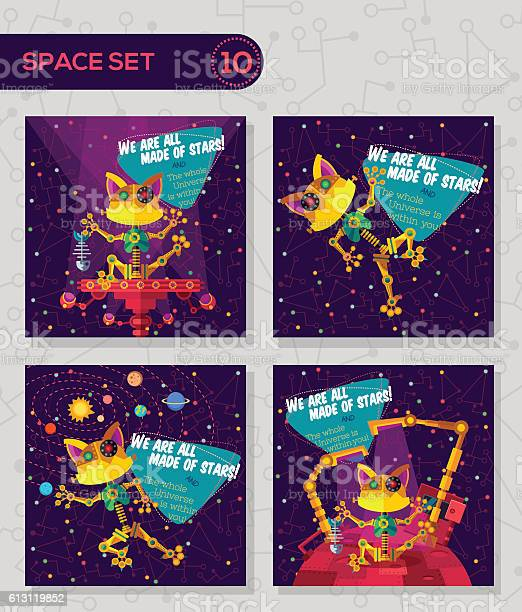 Vector illustration in flat style about robot greeting card vector id613119852?b=1&k=6&m=613119852&s=612x612&h=yfngfxipaajezzodl2gk0y hp2q7gghoahpx mwyivu=