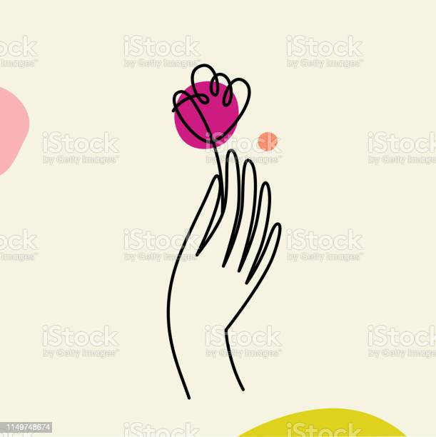 Vector illustration in minimal linear style hand with flower vector id1149748674?b=1&k=6&m=1149748674&s=612x612&h=pvrt a6ctpboka2xreawsaw3h4wegeqs3jlm2mzjuts=