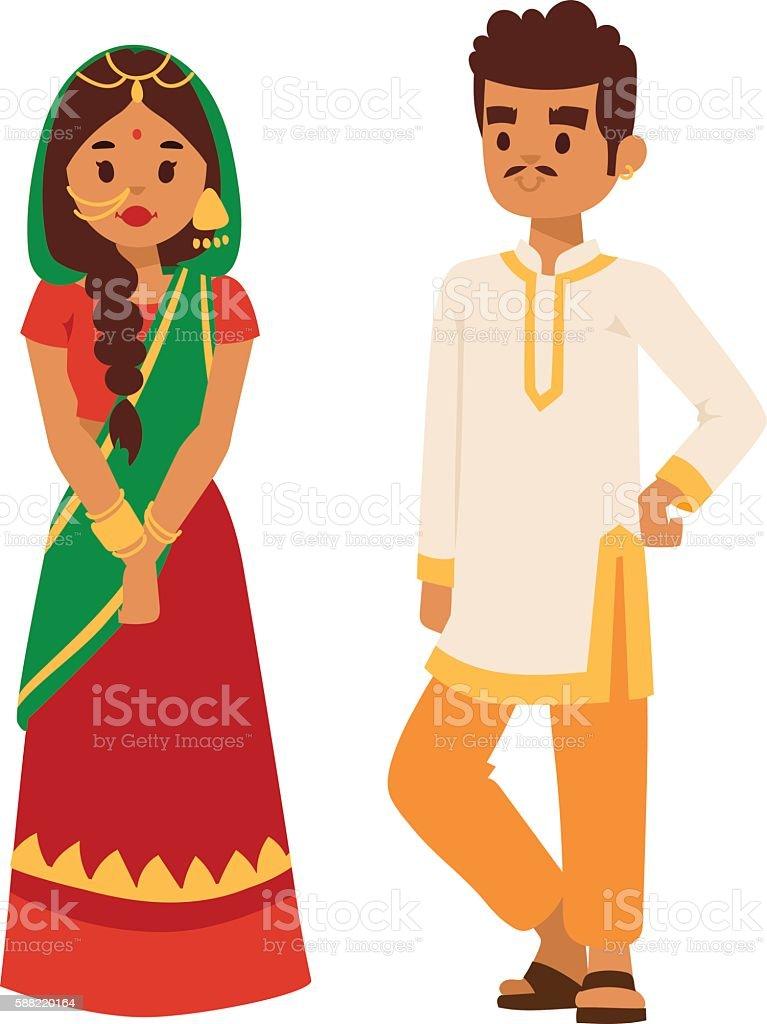Vector illustration indian couple vector art illustration