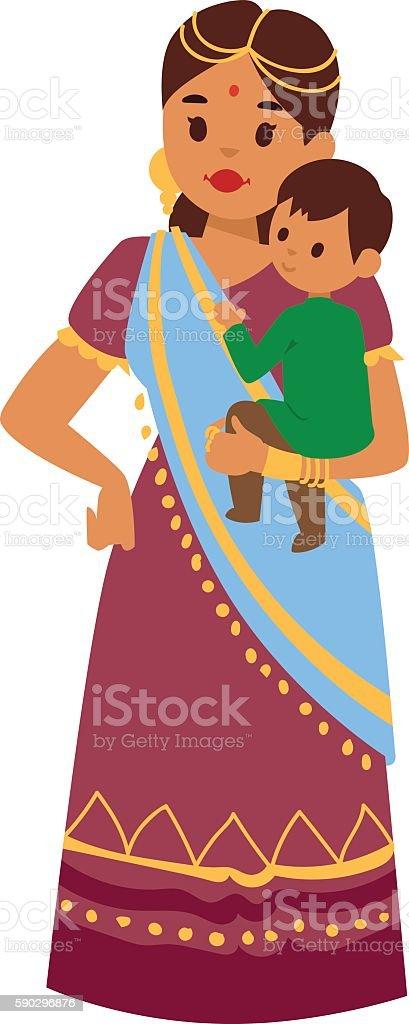 Vector illustration indian girl vector illustration indian girl — стоковая векторная графика и другие изображения на тему Азиатского и индийского происхождения Стоковая фотография