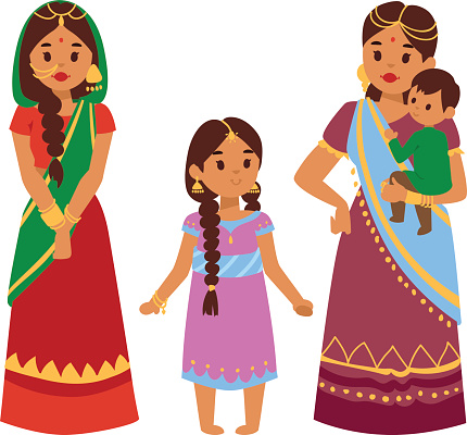 Vector illustration indian people clipart