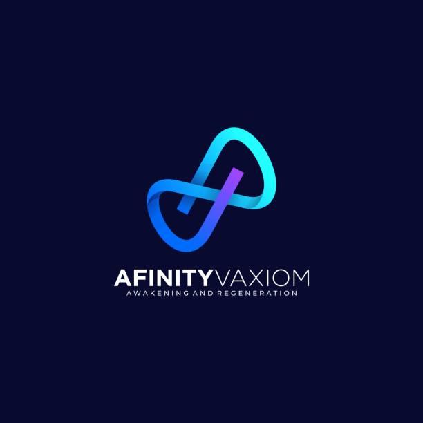 Vector Illustration Infinity Letter Gradient Colorful Style. Vector Illustration Infinity Letter Gradient Colorful Style. blue symbols stock illustrations