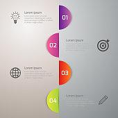 Vector illustration infographics 4 circle options