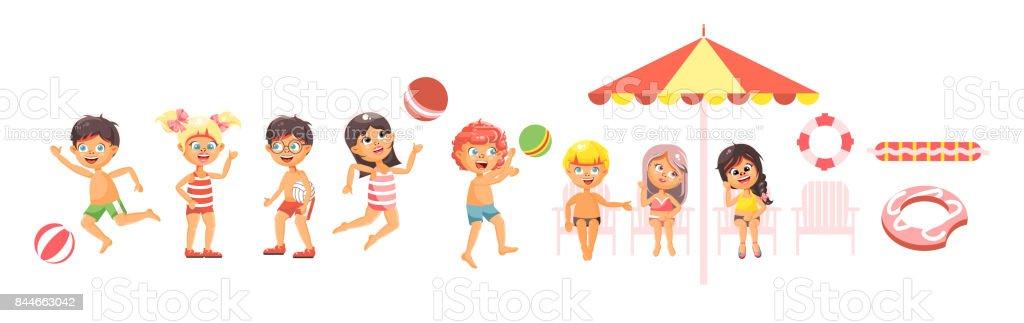 Aislado Vector Ilustración Personajes De Niños 3j4AL5R
