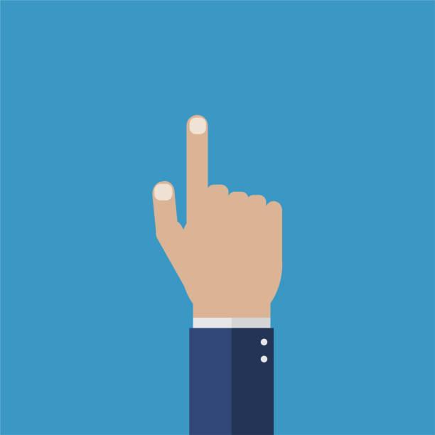 Vektor-Illustration isoliert Hand mit Zeigefinger – Vektorgrafik