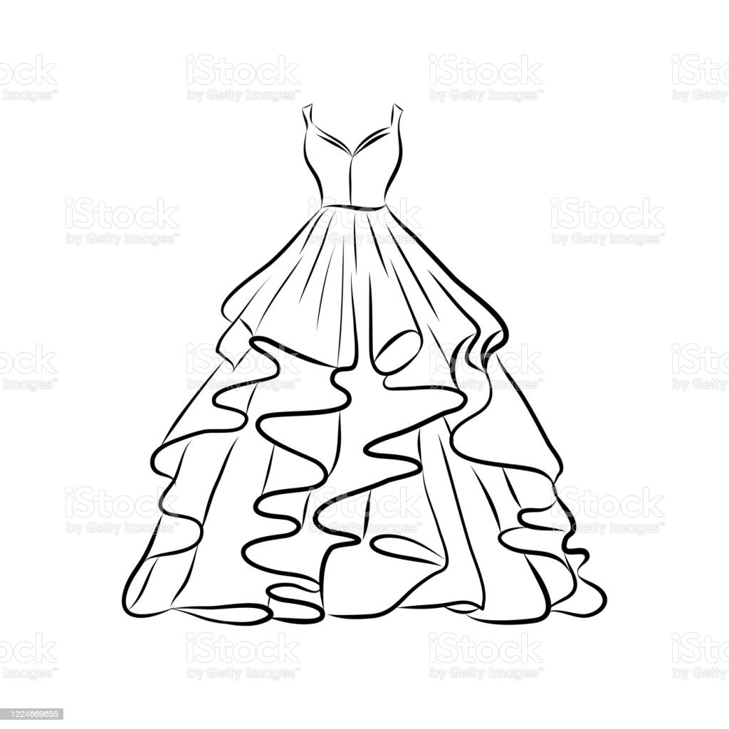 Vector Illustration Isolated On White Background Dress Hand ...