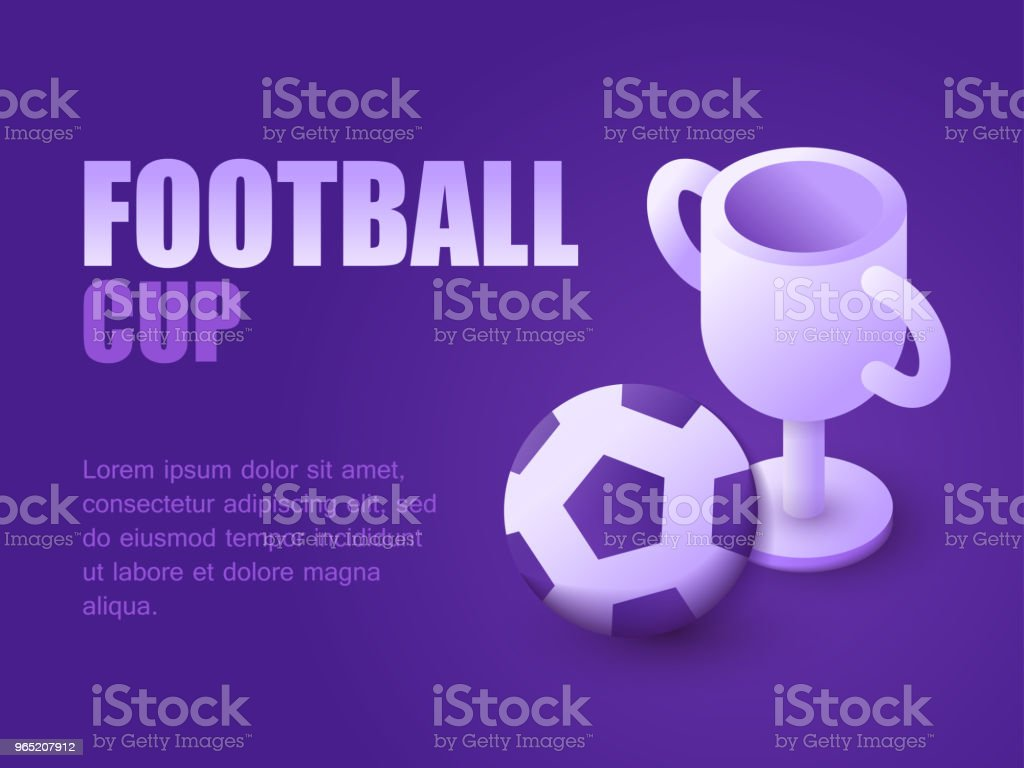 Vector illustration isometric soccer ball and championship cup. Graphic design background football game live. Concept soccer trophy vector illustration isometric soccer ball and championship cup graphic design background football game live concept soccer trophy - stockowe grafiki wektorowe i więcej obrazów czynność royalty-free