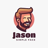 Vector Illustration Jason Simple Mascot Style.