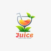 istock Vector Illustration Juice Gradient Colorful Style. 1283981632