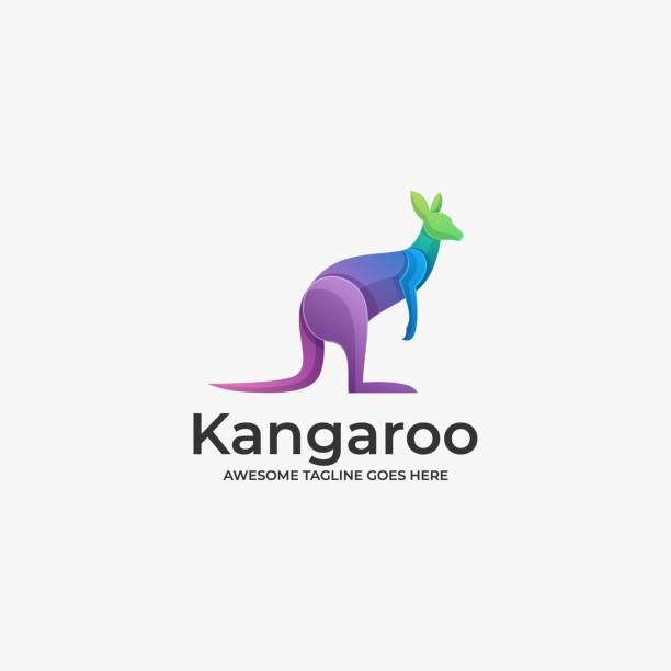 Vector Illustration Kangaroo Gradient Colorful. Vector Illustration Kangaroo Gradient Colorful. kangaroo stock illustrations