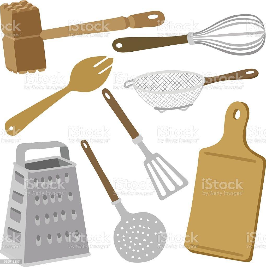 vector illustration Kitchen utensils vector art illustration