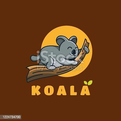 istock Vector Illustration Koala Cute Cartoon Style. 1224734700