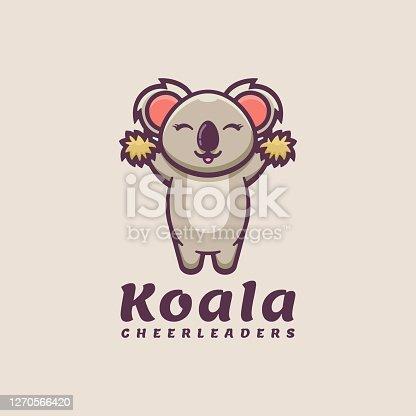 istock Vector Illustration Koala Simple Mascot Style. 1270566420