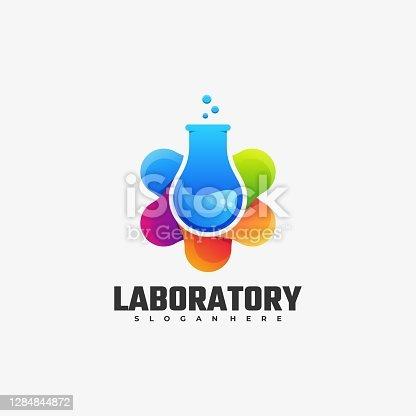 istock Vector Illustration Laboratory Gradient Colorful Style. 1284844872