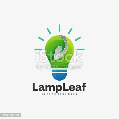 istock Vector Illustration Lamp Leaf Gradient Colorful Style. 1266387956