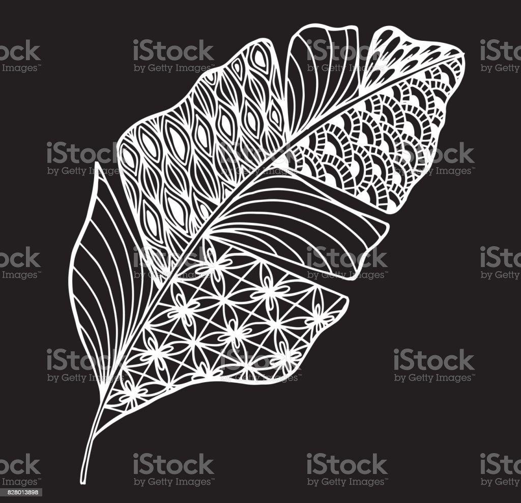 Vektor Cizim Birakir Ve Buna Stil Doodle Floral Suslu Dekoratif