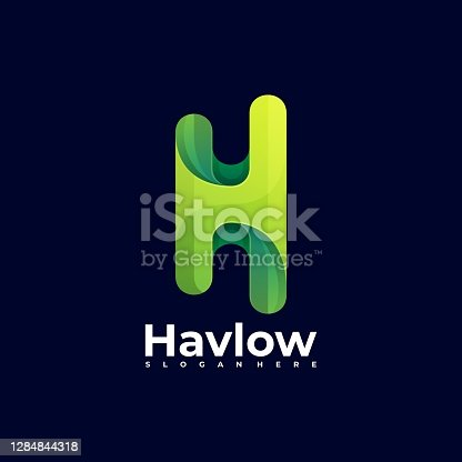 istock Vector Illustration Letter H Gradient Colorful Style. 1284844318