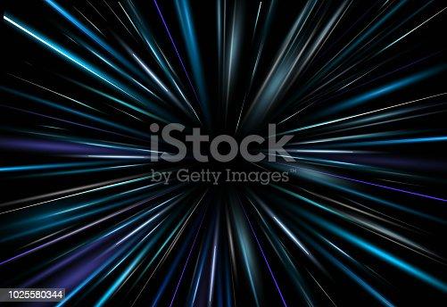 dark blue Light Abstract background. rey beam aura laser