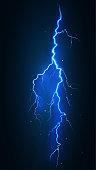 vector illustration lightning bolt electric discharge