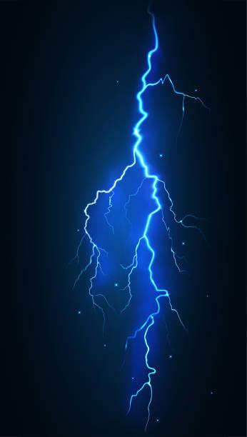 vector illustration lightning bolt electric discharge vector illustration lightning bolt electric discharge forked lightning stock illustrations