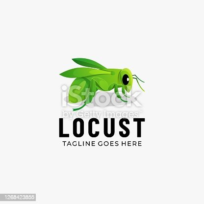 istock Vector Illustration Locust Gradient Colorful Style. 1268423855