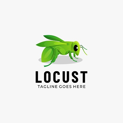 Vector Illustration Locust Gradient Colorful Style.