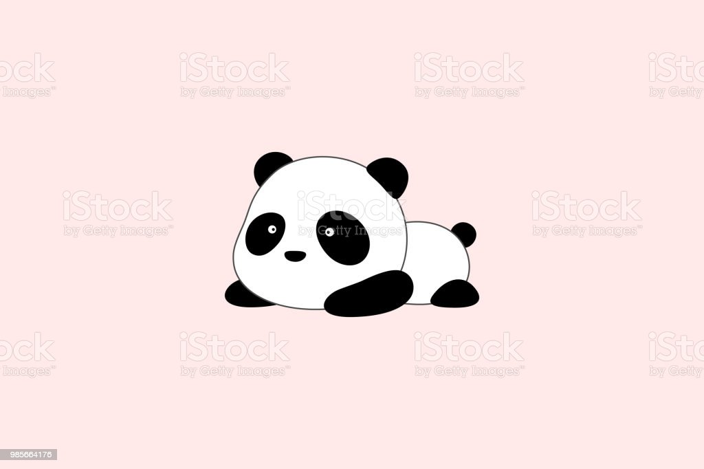 Vector Illustration Création De Logo Ours Panda Géant De