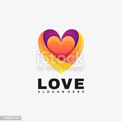 istock Vector Illustration Love Gradient Colorful Style. 1285567347