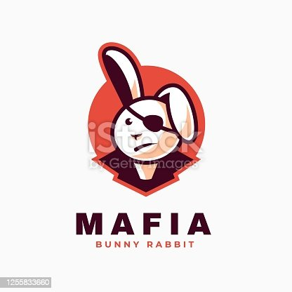istock Vector Illustration Mafia Simple Mascot Style. 1255833660