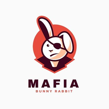 Vector Illustration Mafia Simple Mascot Style.