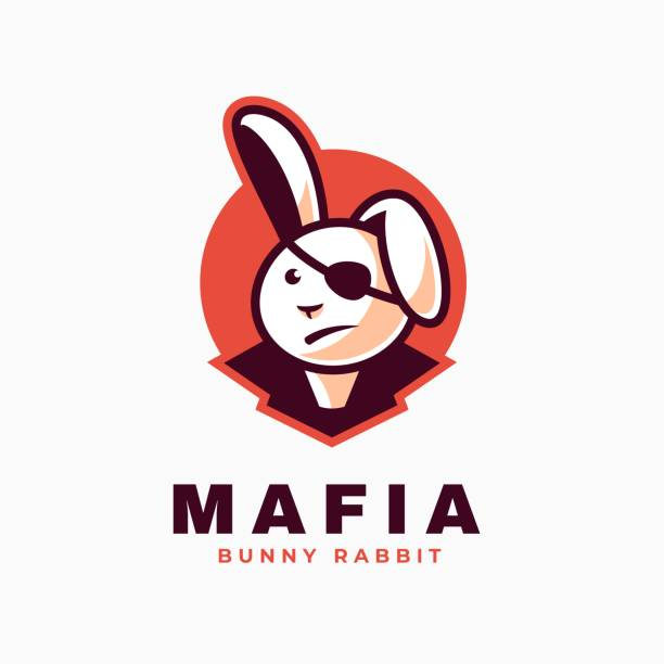 Vector Illustration Mafia Simple Mascot Style. Vector Illustration Mafia Simple Mascot Style. bandit stock illustrations