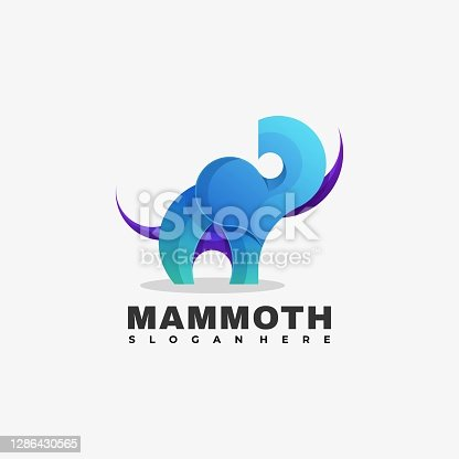 istock Vector Illustration Mammoth Gradient Colorful Style. 1286430565