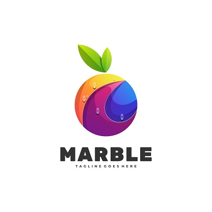 Vector Illustration Marble Gradient Colorful Style.