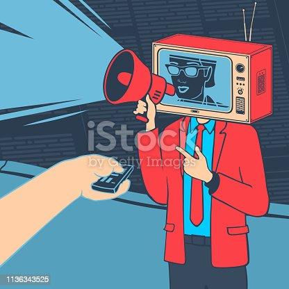 Vector Illustration Media Propaganda Concept