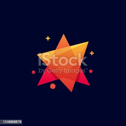 istock Vector Illustration Mega Star Gradient Colorful Style. 1248868879