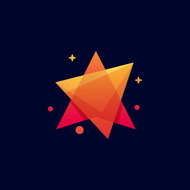 ilustraciones, imágenes clip art, dibujos animados e iconos de stock de ilustración vectorial mega estrella degradado colorido estilo. - conceptos y temas