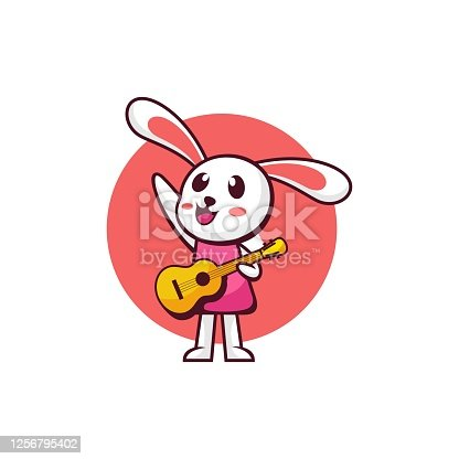 istock Vector Illustration Melody Simple Mascot Style. 1256795402