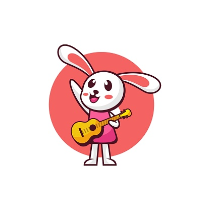 Vector Illustration Melody Simple Mascot Style.