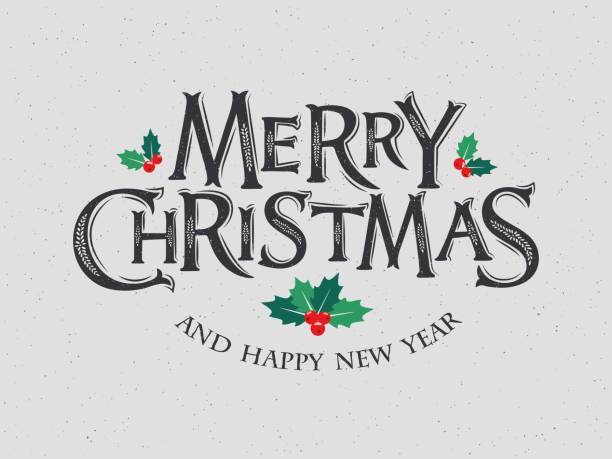 vector illustration merry christmas and happy new year - christmas background stock illustrations