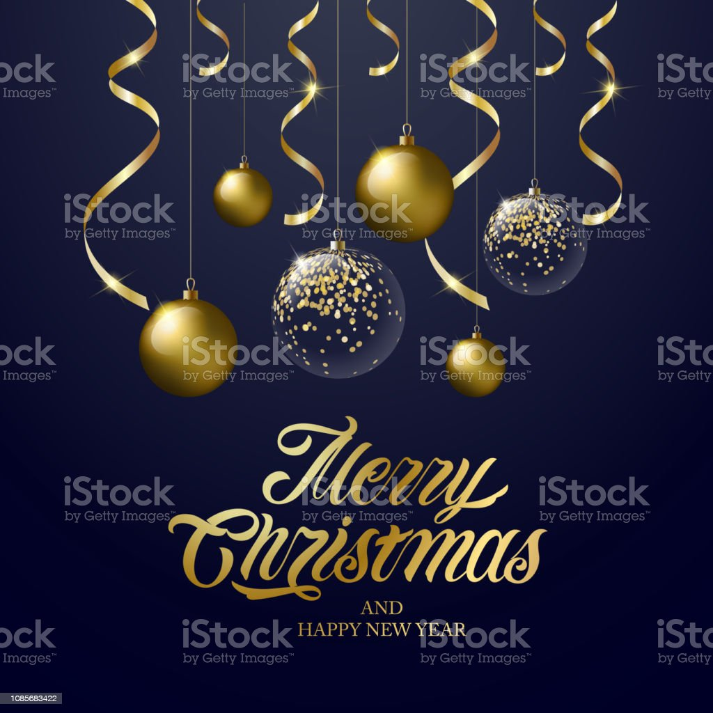Vector Illustration Merry Christmas And Happy New Year Stock Vector