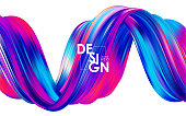 Modern colorful flow background. Abstract wave twisted liquid shape. Template for your design