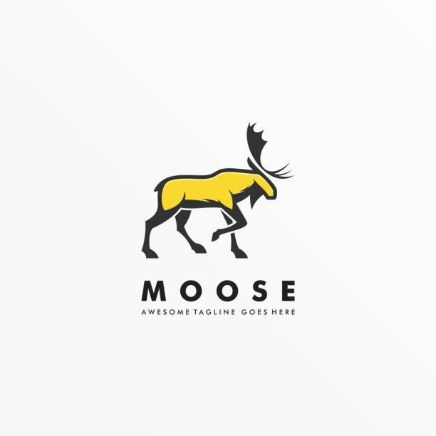 ilustraciones, imágenes clip art, dibujos animados e iconos de stock de ilustración vectorial moose pose mascot dibujos animados. - hueva