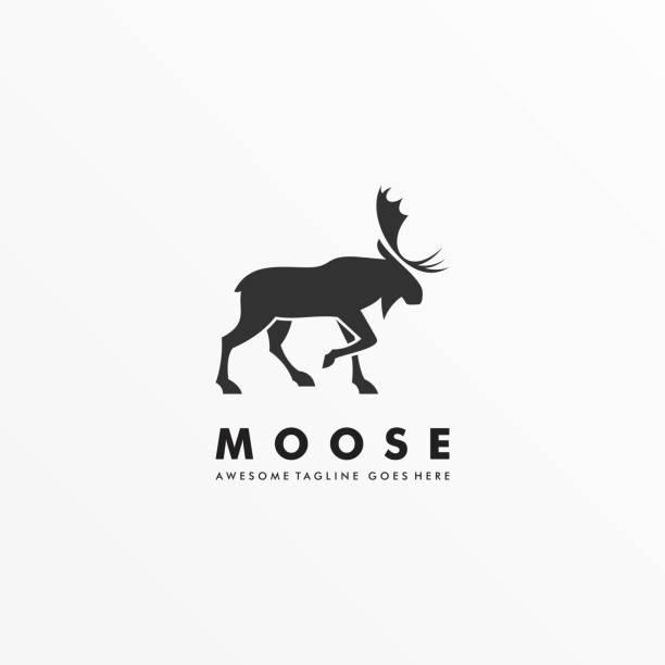 Vector Illustration Moose Pose Silhouette Style. Vector Illustration Moose Pose Silhouette Style. moose stock illustrations