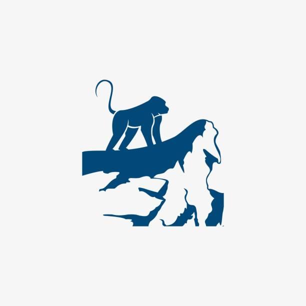 Vector Illustration Mountain Monkey. Vector Illustration Mountain Monkey. marmoset stock illustrations