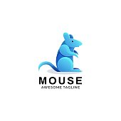 Vector Illustration Mouse Gradient Colorful Style.